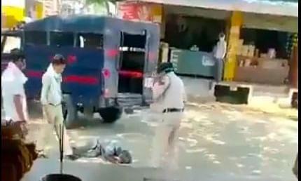 MP Police brutally beatenup man