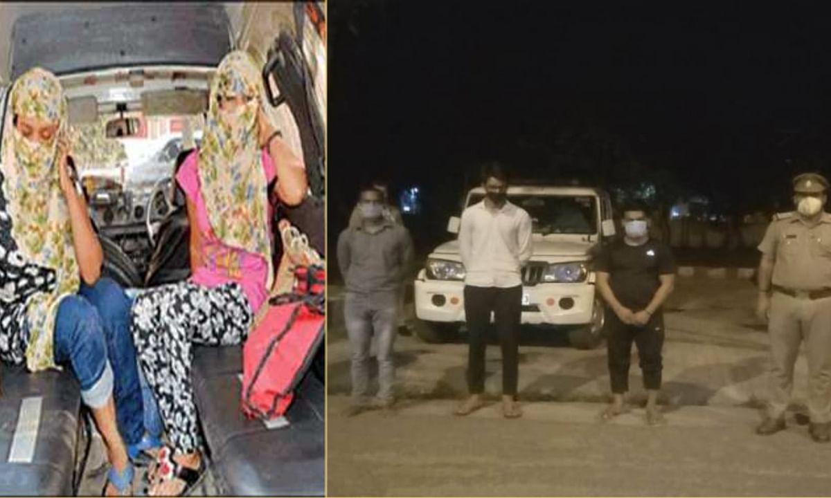 लॉक डाउन के बीच ग्रेटर नॉएडा के गेस्ट हाउस में चल रहा था सेक्स रैकेट, पुलिस ने रंगे हाथों पकड़ा।