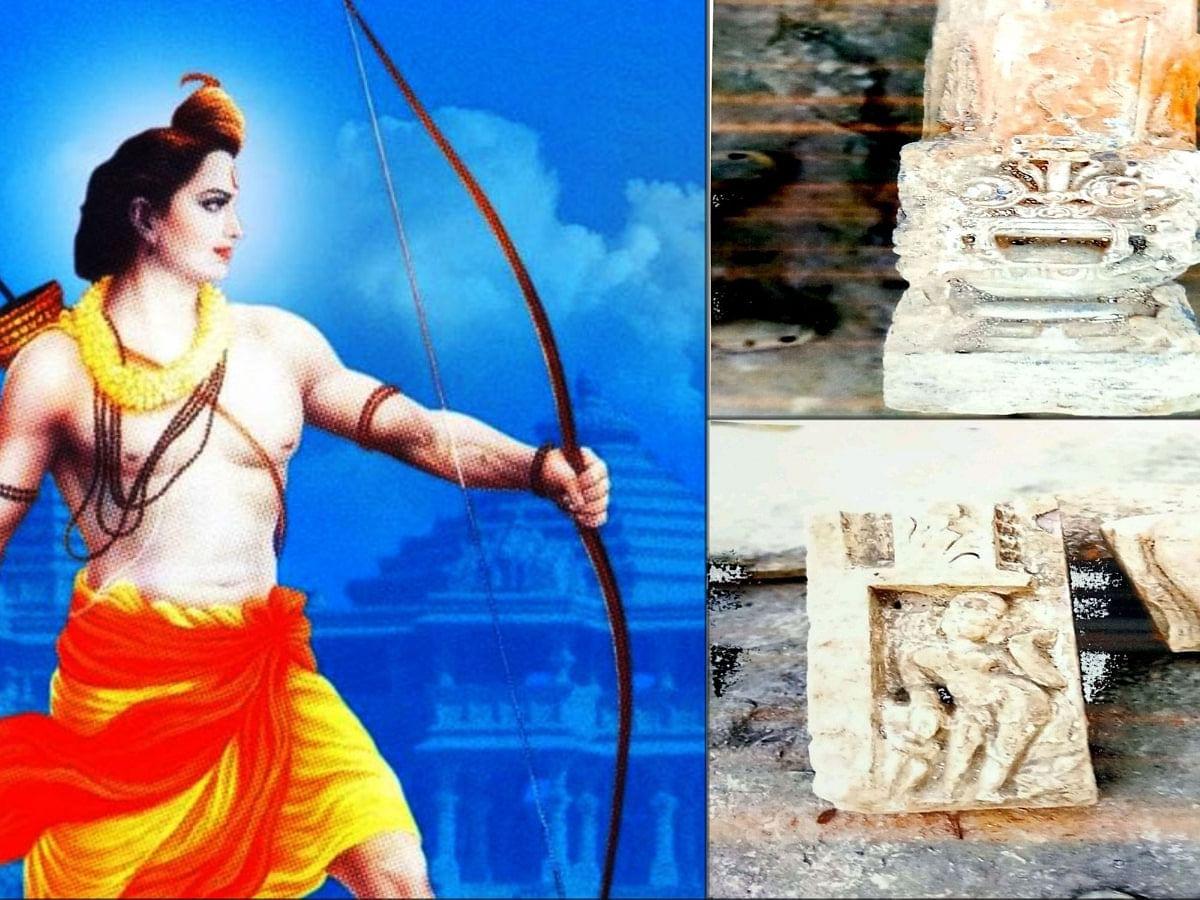 अयोध्या में अब भी निकल रहे मंदिर के सुबूत, खुदाई में निकली पाषाण मूर्तियां