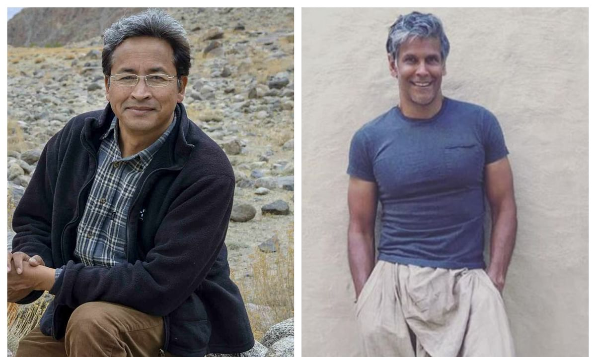 milind soman and sonam wangchuk on china