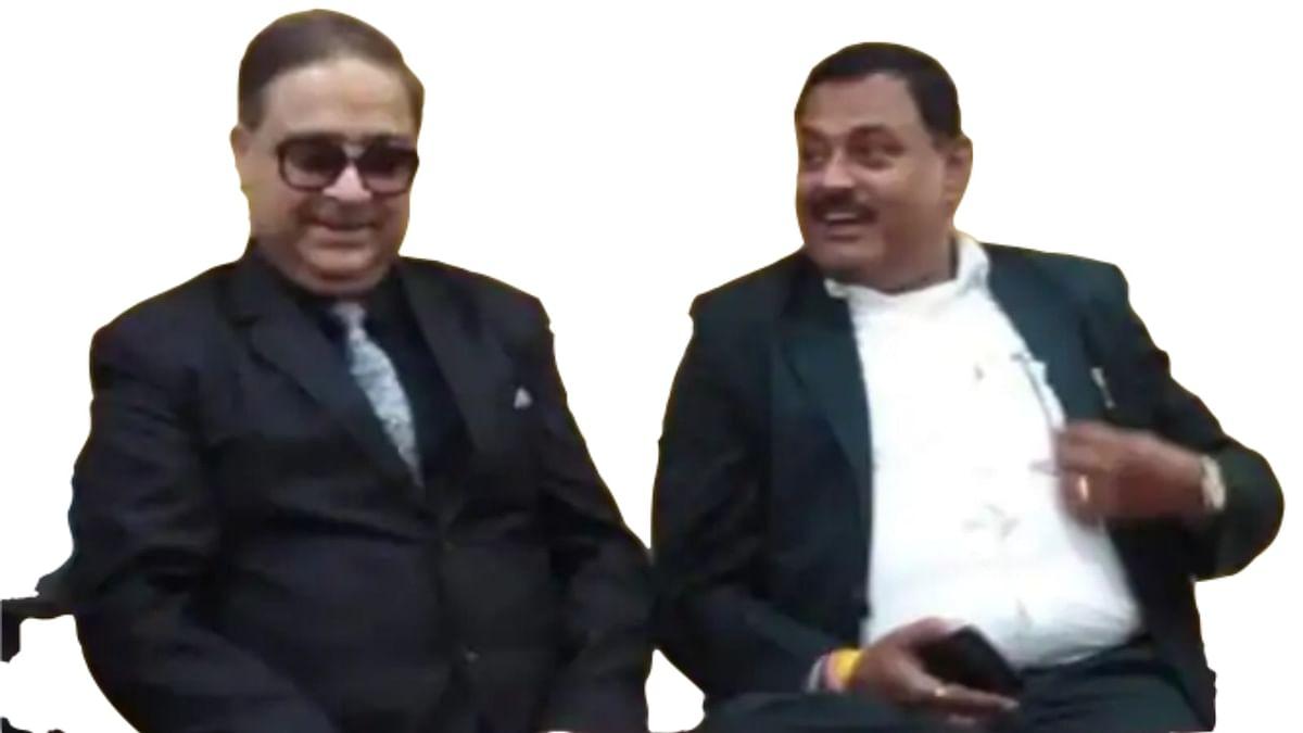 Comedian Anuu Awasthi with Vikas Dubey