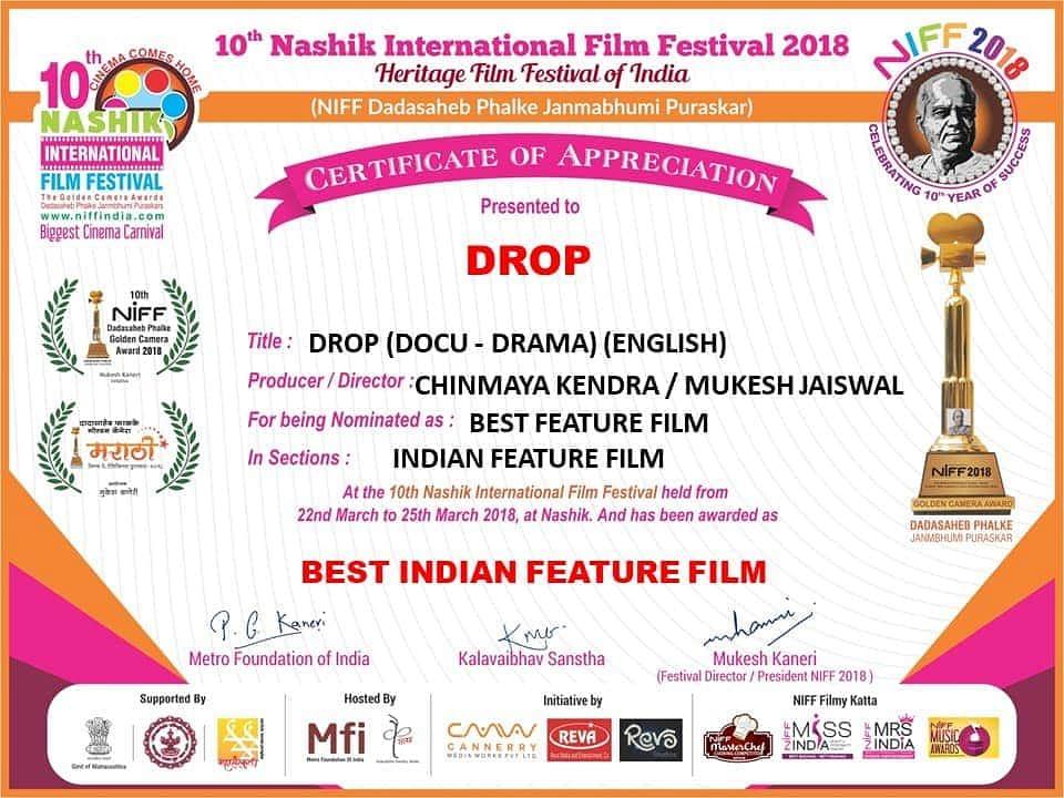 Appreciation for Drop film
