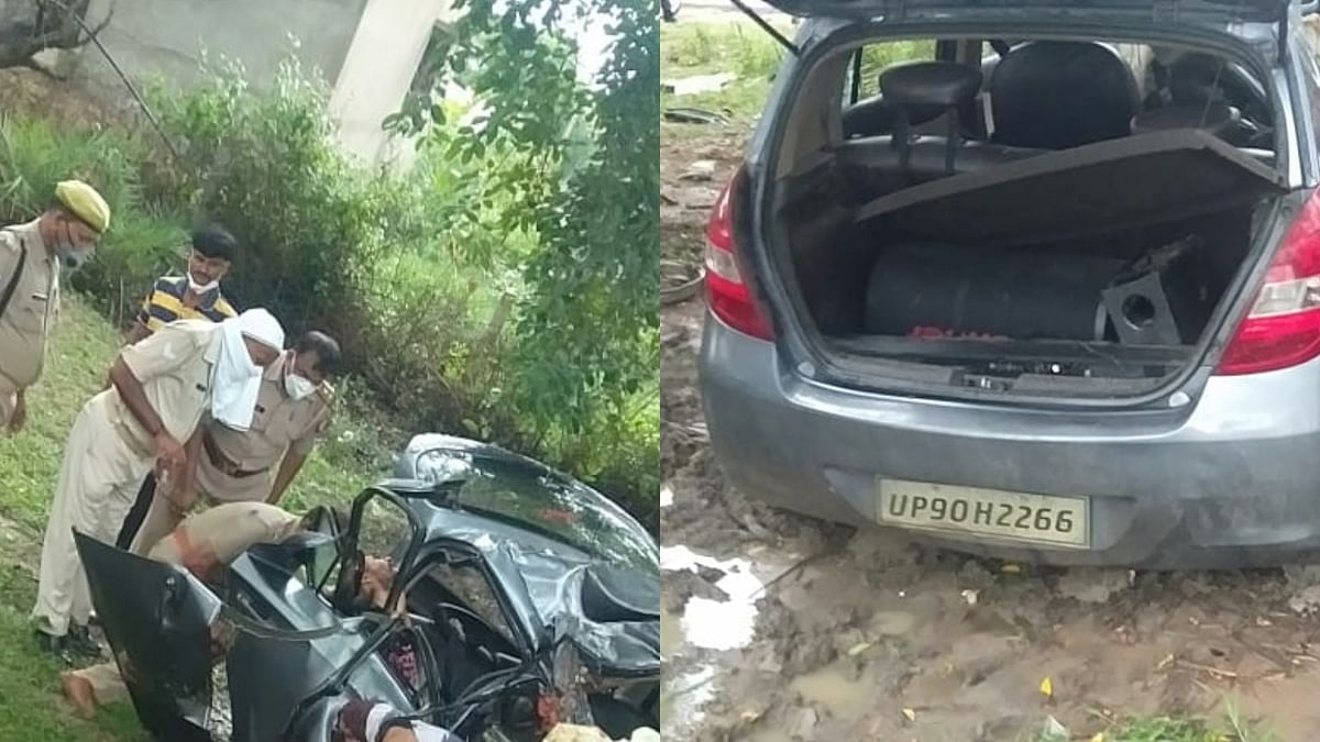 Car Accident in Mahoba
