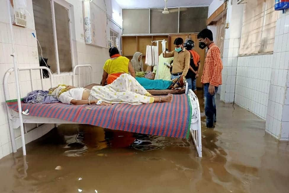 Flood Water in mahoba district Hospital