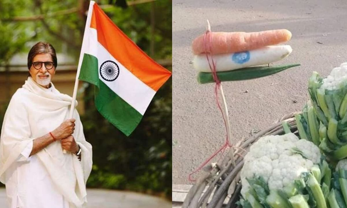 amitabh bachchan shared indian flag made of vegetables