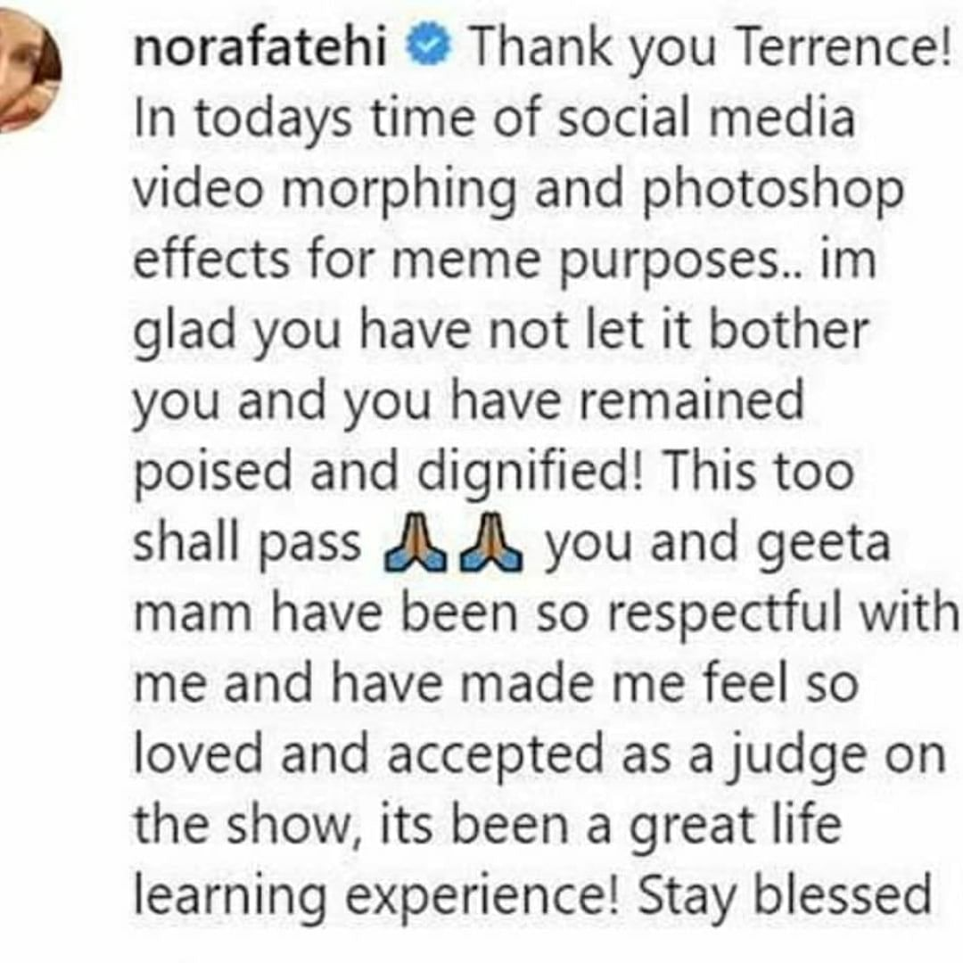 Nora fatehi clarification about viral video
