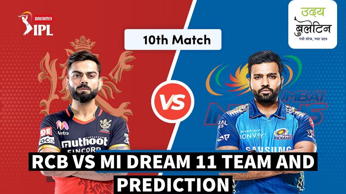 RCB vs MI Dream11 IPL Team Hints and Prediction