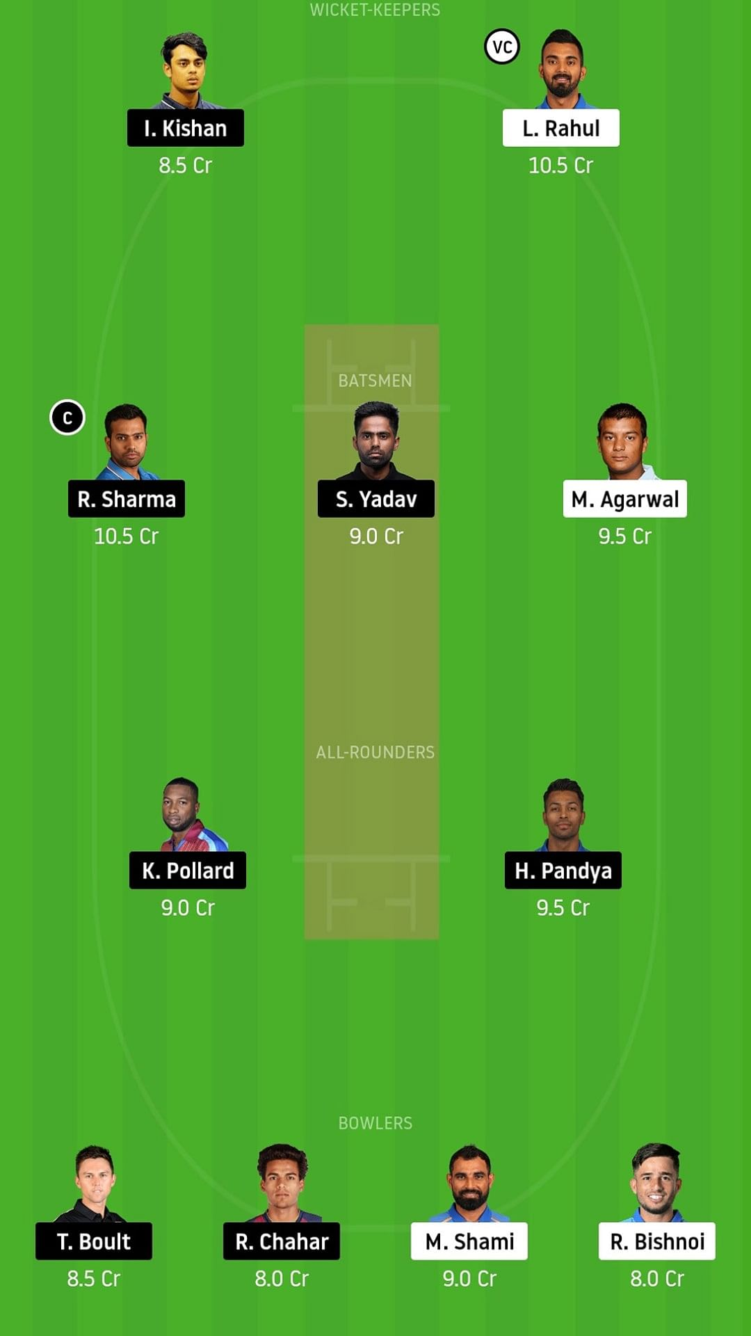 My Dream11 Team