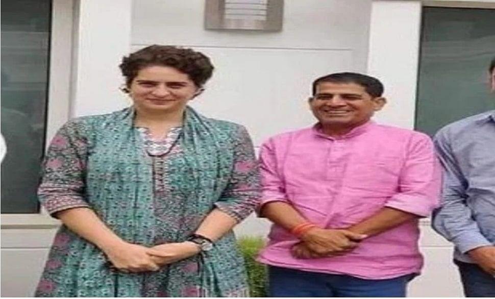 Priyanka Gandhi with Anuj Mishra