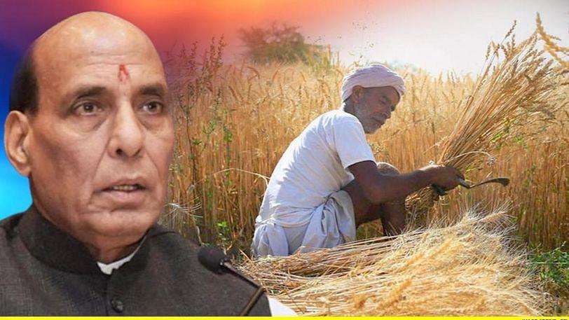 """रक्षामंत्री राजनाथ सिंह ने कहा """"हम हरदम किसानों की बात सुनने को तैयार हैं"""