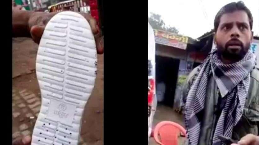 """जूते पर """"ठाकुर"""" हिरासत में बुलन्दशहर का मुस्लिम दुकानदार"""