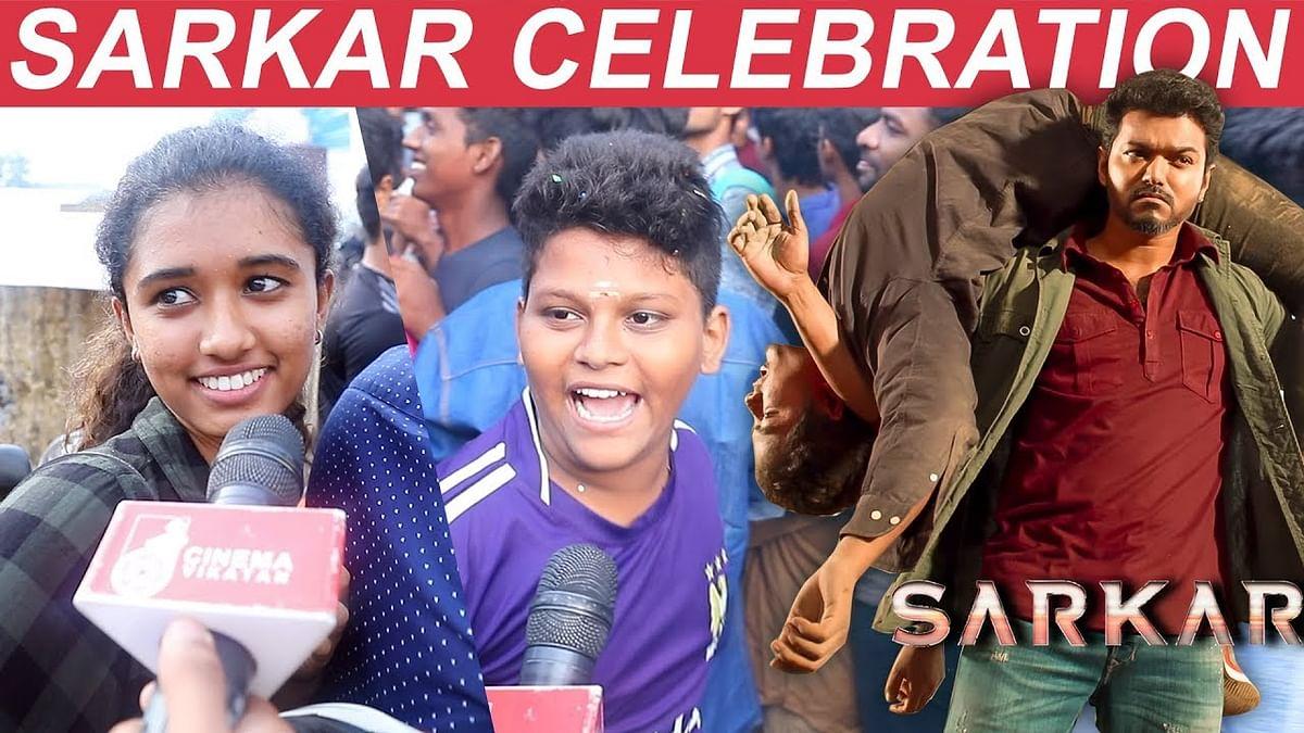 FANS HARDCORE Celebrations For Vijay's Sarkar