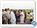 சென்னை விமான நிலையத்தில் ஜனாதிபதி பிரணாப் முகர்ஜி...