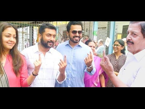 EXCLUSIVE: Actor Sivakumar Full Family Casts their votes | Surya | Karthi | Jyothika
