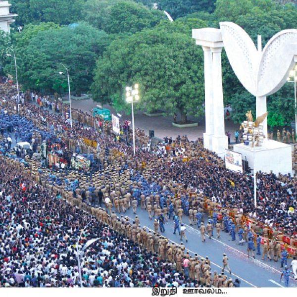 ஜெயலலிதா... அப்போலோ முதல் எம்.ஜி.ஆர் சமாதி வரை!