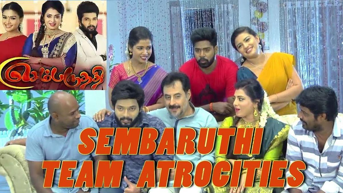 Naanga Vaayaadi Kudumbam ! Sembaruthi Serial Family | Behind The Scenes | Just For Laughs !