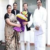 ராகுல் காந்தியைச்  சந்தித்தார் நடிகை குஷ்பூ!