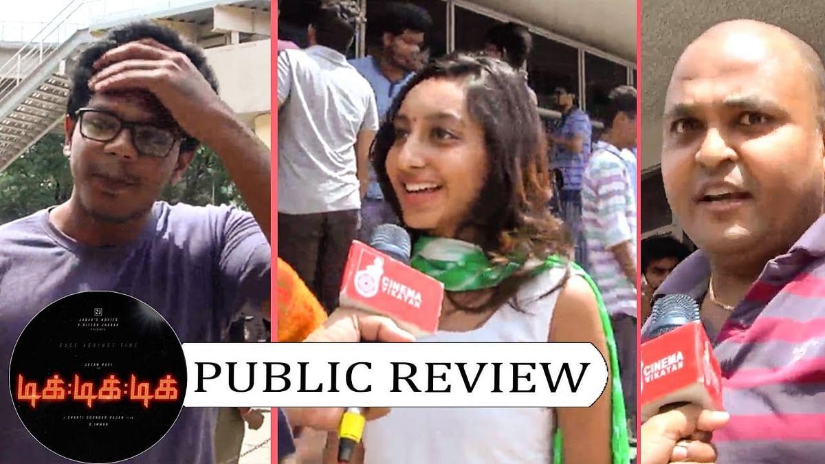 Jayam Ravi Paiyanukku Nadippu...   Tik Tik Tik Public Review   FDFS
