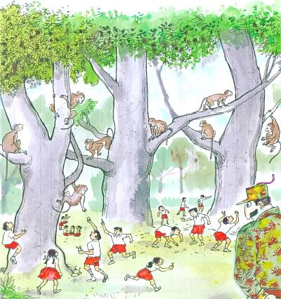 குரங்குகள் கற்றுத் தந்த பாடம்!