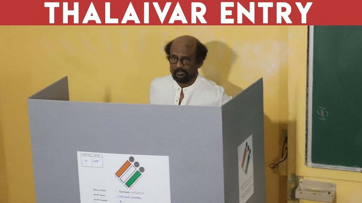 Superstar Rajini Entry to Cast his vote | TN Election 2019