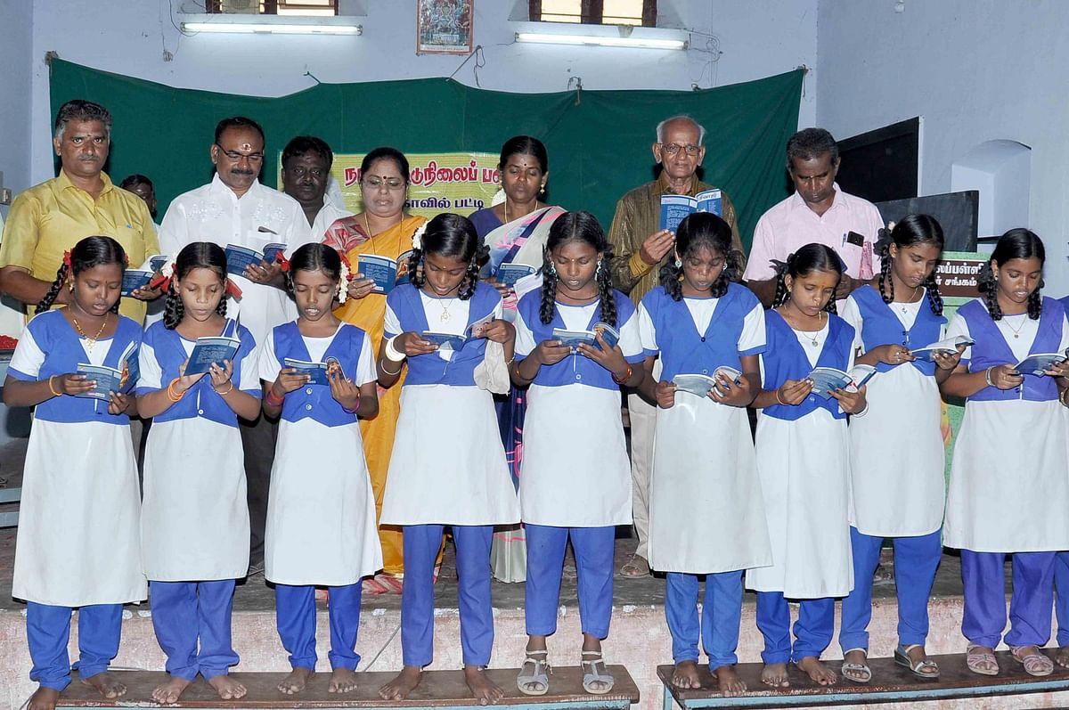 காமராஜரின் 116-வது பிறந்தநாளில் நூலகத்தில் உறுப்பினரான 116 மாணவர்கள்!