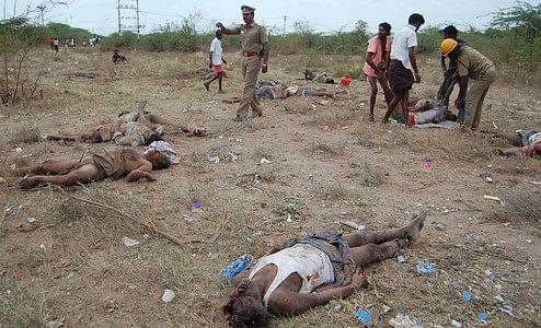 சிவகாசி வெடி விபத்தில் பலியான 40 பேருக்கு முதலாமாண்டு நினைவஞ்சலி!