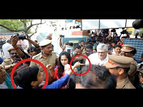 Shalini Pushed & Ajith Questioned for Skipping the Queue to Vote | Election 2019