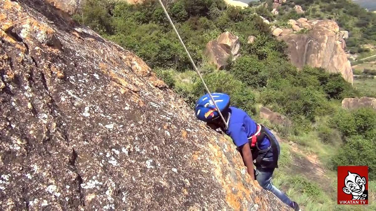 Seven year old kid climbs thirumoorthi hills