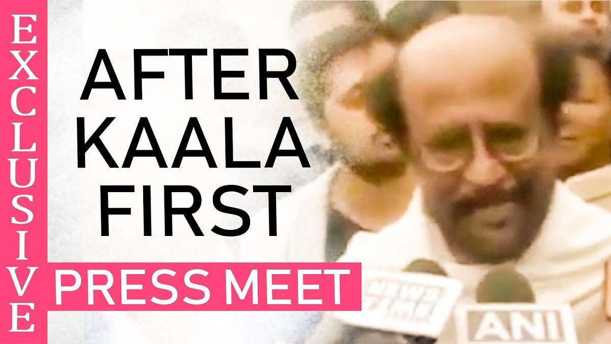 Rajinikanth First Press Meet After Kaala At Darjeeling !