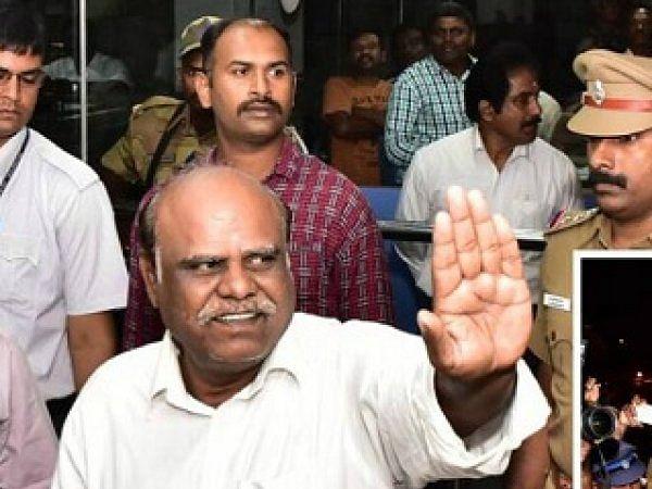 சென்னை: ஓய்வுபெற்ற நீதிபதி கர்ணன் கைது!