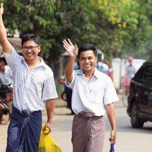 `500 நாள்கள் சிறைவாசம்!' - மியான்மர் பத்திரிகையாளர்கள் இருவர் கருணைஅடிப்படையில் விடுதலை!
