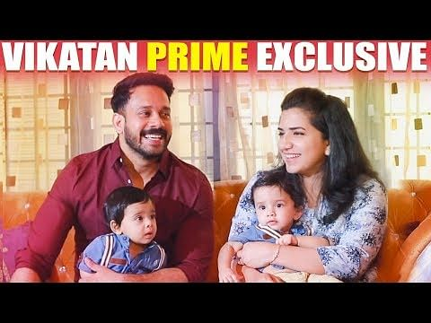 ULTRA CUTE: Difficulties in Raising Twins - Bharath & his Wife First time Open up!