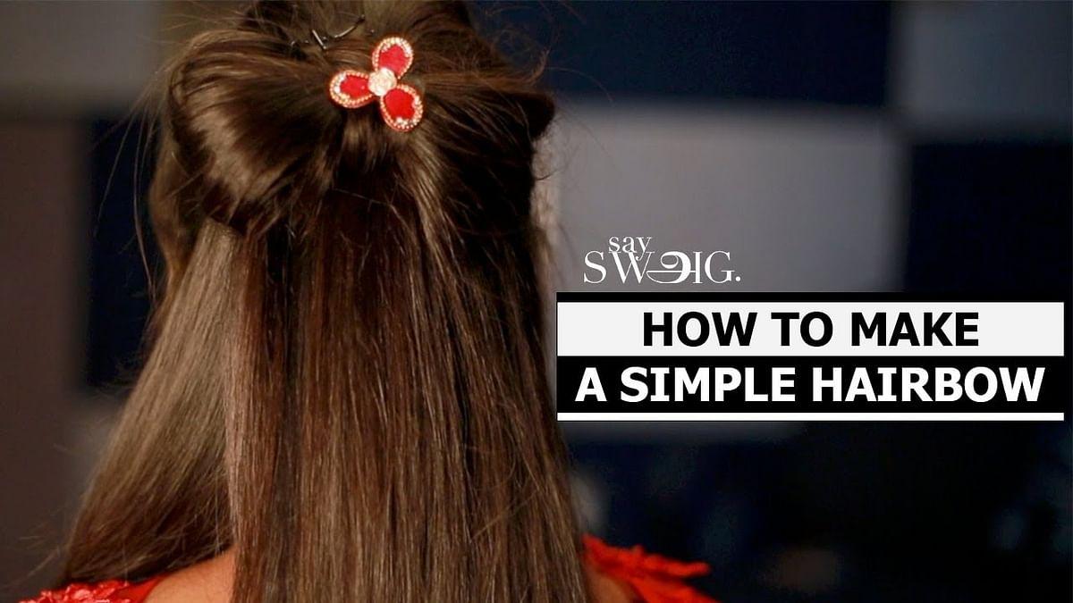 Hair Bow: How to put Fairy Tale hair bow | Hair Style | Say Swag