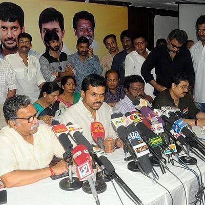 Karthi, Nassar in a press meet