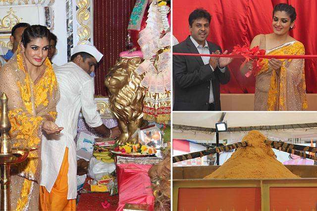 உலகின் மிகப்பெரிய லட்டு...திறந்து வைத்தார் ஆளவந்தான் நாயகி ரவீனா டாண்டன்!