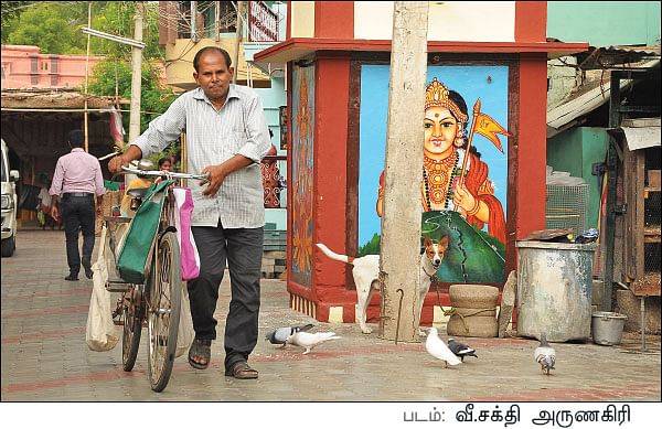 Thadam Vikatan - 01 June 2017 - எழுத்துக்கு அப்பால்! - வெ.நீலகண்டன் |  Interview - Beyond Words - Neelakandan - Vikatan Thadam