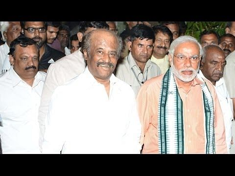 Modi meet Rajinikanth  Exclusive Visuals   Junior Vikatan