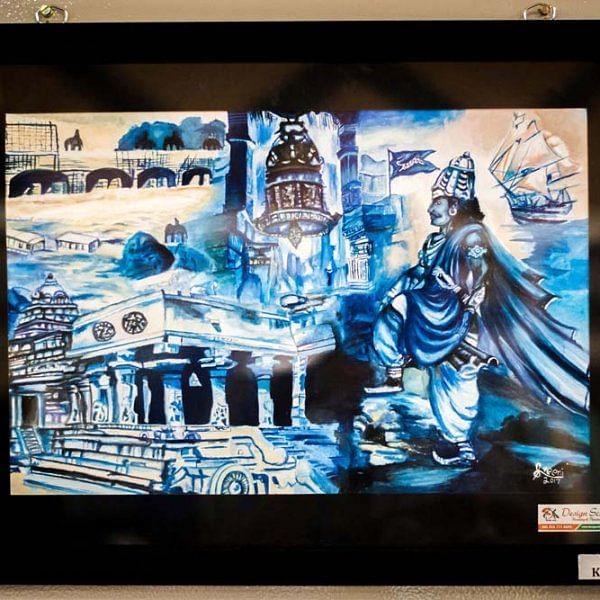 திருச்சியில் நடைபெற்ற டிசைன் ஸ்கூல் ஆர்ட் எக்ஷிபிஷன்... படங்கள் - சே.அபினேஷ்