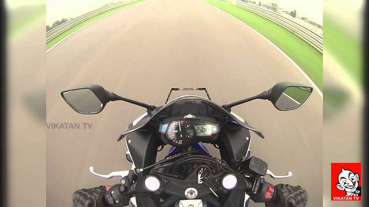 Yamaha YZF R3 | TOP SPEED & 0-100 AT Buddh Race Circuit | Go Pro View