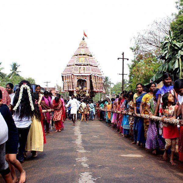திருக்கடையூர் அமிர்தகடேஸ்வரர் ஆலயத்தில் நடைப்பெற்ற திருத்தேர் பவனி!