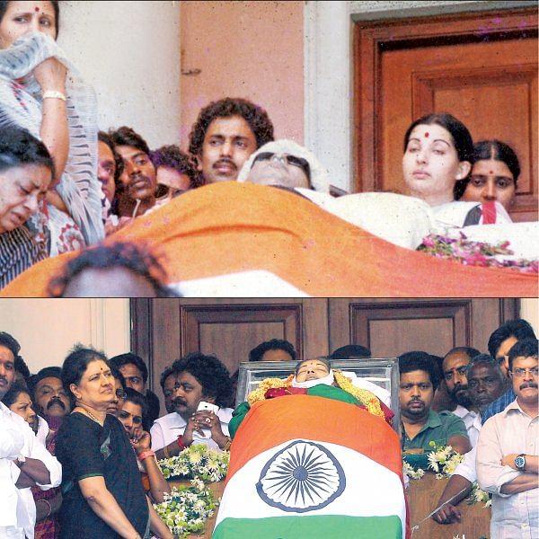 சசிகலா ஜாதகம் - 50 - ராஜாஜி ஹால் அரசியல்!