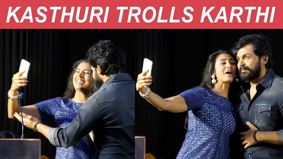 NO SIVAKUMAR - So Selfie with Karthi - Kasthuri Fun on Stage