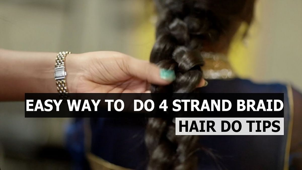 Hair Style: How to put 4 Strand Braid | Hair Style | Say Swag