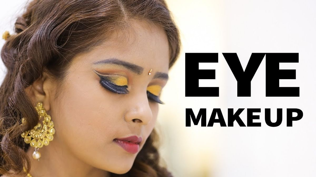 Golden Eye Makeup for Reception & Party | Nature Nurture