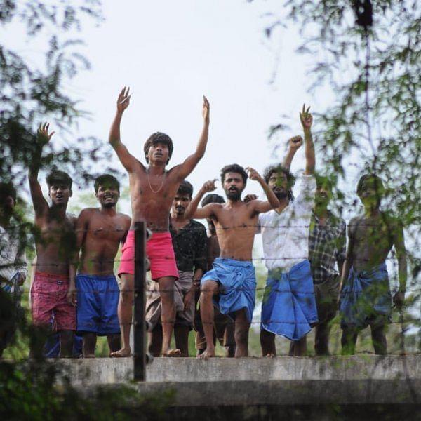 `போலீஸார் துன்புறுத்துகின்றனர்!' - கற்களை வீசி போராடிய மதுரை மத்திய சிறைவாசிகள்