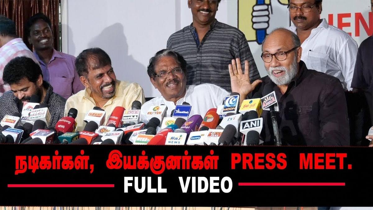 40 வருஷமா வராத IT Raid! Sathyaraj Lollu | Bharathiraja Press Meet | Ameer | Thangar Bachan