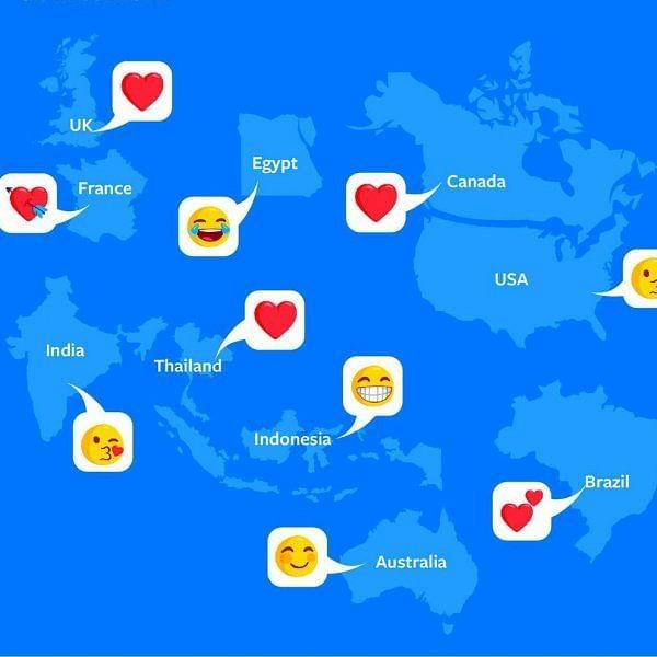 இந்திய முத்தம், இங்கிலாந்து இதயம், ஆஸி சிரிப்பு! - ஃபேஸ்புக்கின் எமோஜி காதல் #WorldEmojiDay