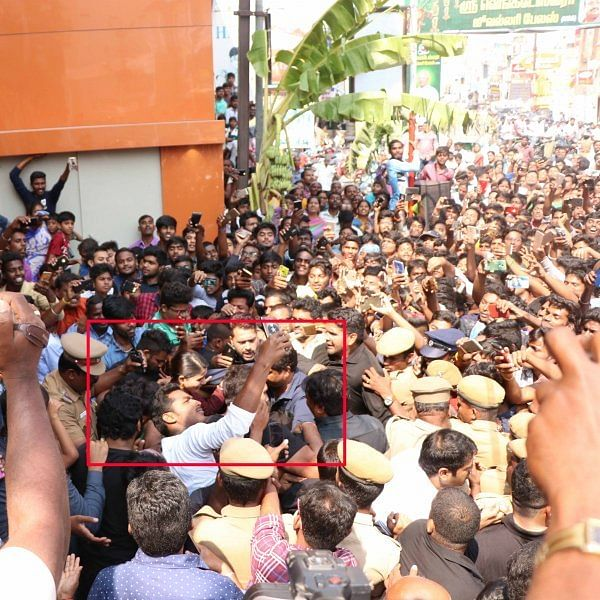 ``சாலையை ஸ்தம்பிக்க வைத்த சமந்தா!'' - நகைக்கடை உரிமையாளர் மீது வழக்கு