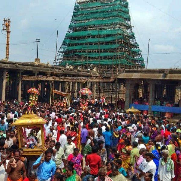 விருத்தகிரீஸ்வரர் கோயிலில் விபசித்து முனிவருக்குக் காட்சியளிக்கும் ஐதீகத் திருவிழா