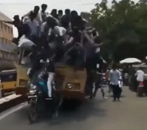 `சடன் பிரேக்' கொடுத்த பாடம் ! - `தலை'தெறிக்க ஓடிய ரூட்டுத் தலைகள்